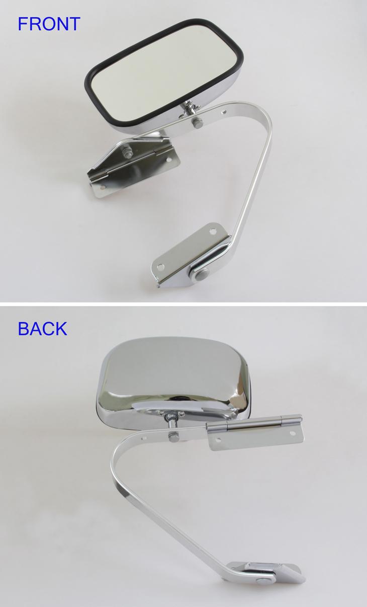 tray back ute door mirror toyota landcruiser 70 75 78 series fj hj bj hzj chrome ebay. Black Bedroom Furniture Sets. Home Design Ideas